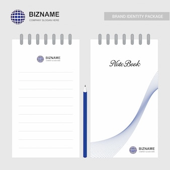 Company logo design notebook vector