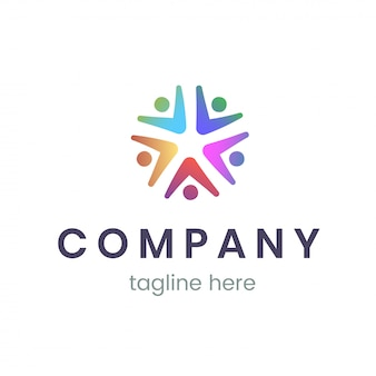 Company logo design template. trendy sign for business and branding.