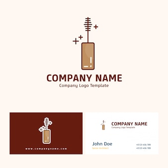 Company logo design with name based on mother's day vector