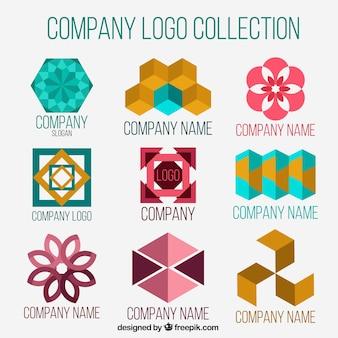 Loghi aziendali con forme astratte