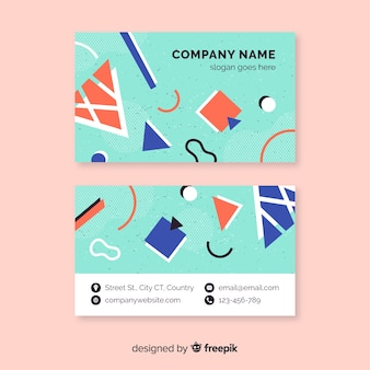 Company memphis business card