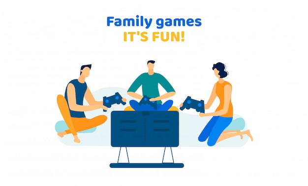 Company men and woman playing video games at home