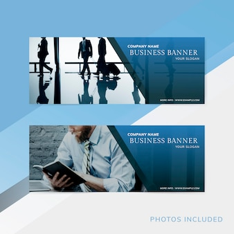 Company name business banner set vector