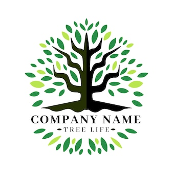 Company nature tree logo template