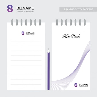 Company notebook with a unique design vector
