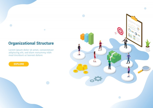Company or organization structure for website template