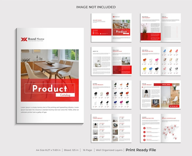 Company product catalogue design template