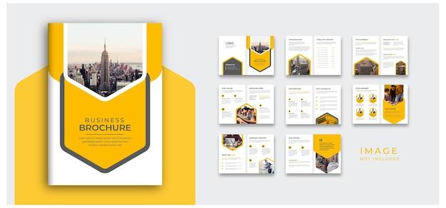 Профиль компании и макет проектного предложения красочный уникальный дизайн