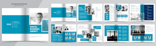 Company profile booklet template