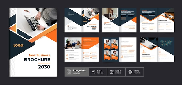Company profile brochure template layout design or modern business brochure theme