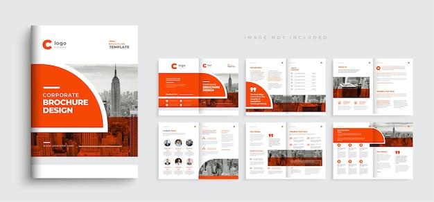 Company profile brochure template layout design modern minimal multipage business brochure Premium Vector