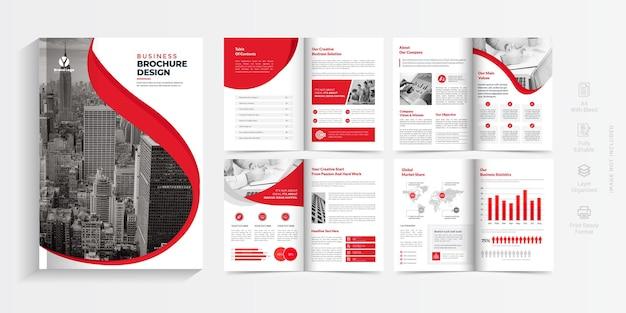 Брошюра профиля компании дизайн макета многостраничная бизнес брошюра дизайн шаблона