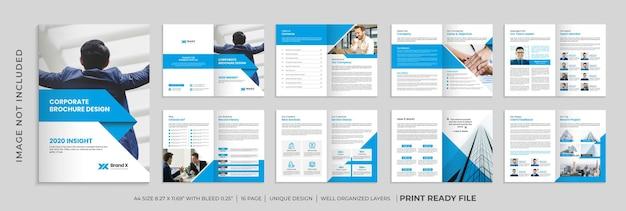 会社概要パンフレットテンプレート、複数ページのビジネスパンフレットテンプレート