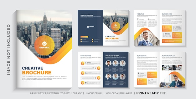 Company profile brochure template or multipage brochure template layout design