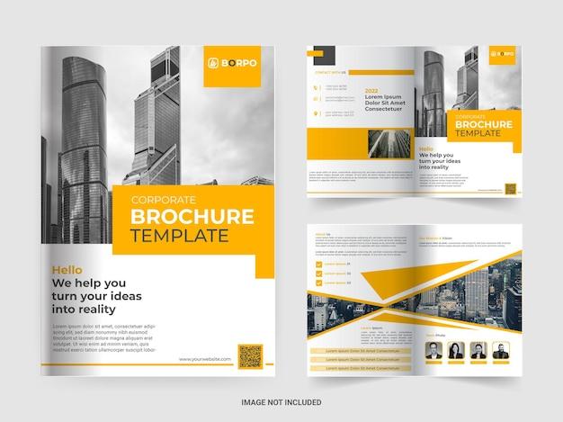 Шаблон брошюры корпоративного бизнеса профиля компании