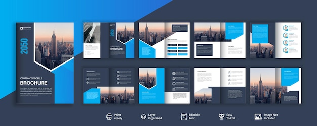 会社概要またはビジュアルアイデンティティパンフレットのデザイン