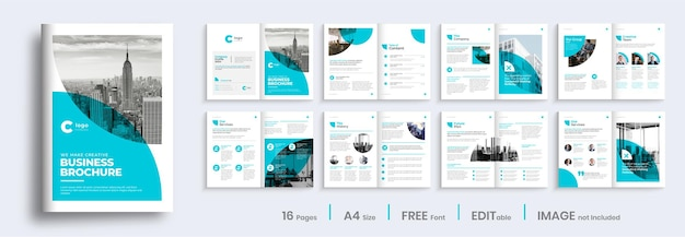 Company profile template layout design, minimalist business brochure design