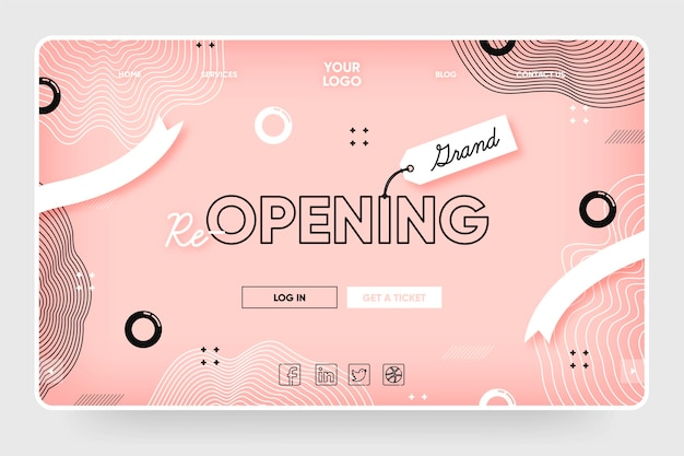 Company re-opening landing page template