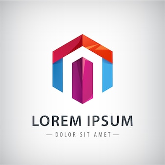 会社のリボンのロゴのデザイン要素