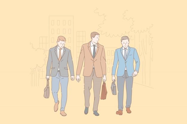 会社のスタッフの友情と協力の概念