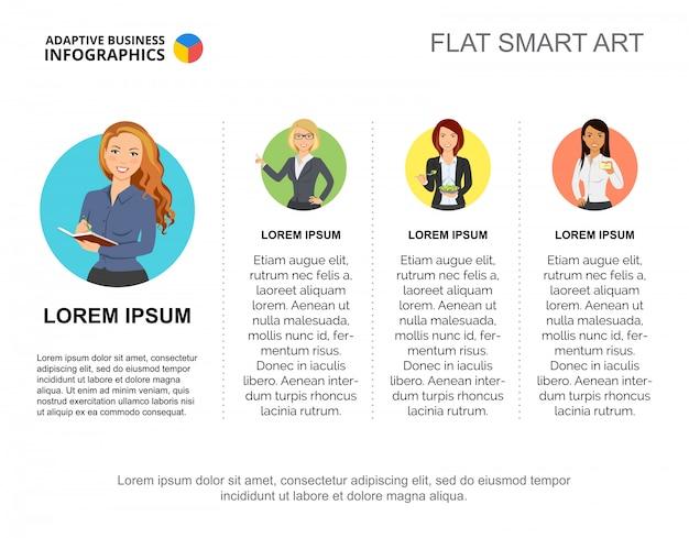Modello di diapositiva del personale dell'azienda. grafico. concept creativo per infografica, report