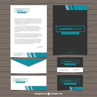 Company stationery in modern style Premium Vector