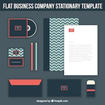 Компания набор канцелярских принадлежностей дизайн abstrato