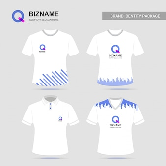 Company t shirt design with logo vector
