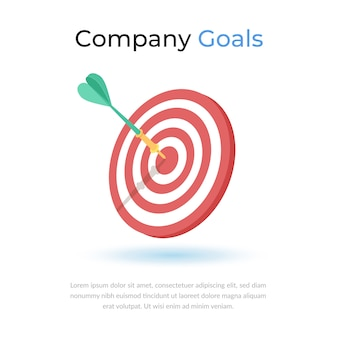 Company target goals icon