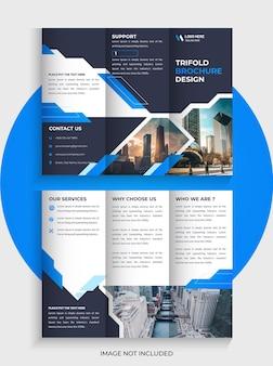 회사 trifold 브로셔 템플릿 디자인 및 비즈니스 trifold 전단지 템플릿