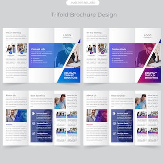 Company trifold brochure