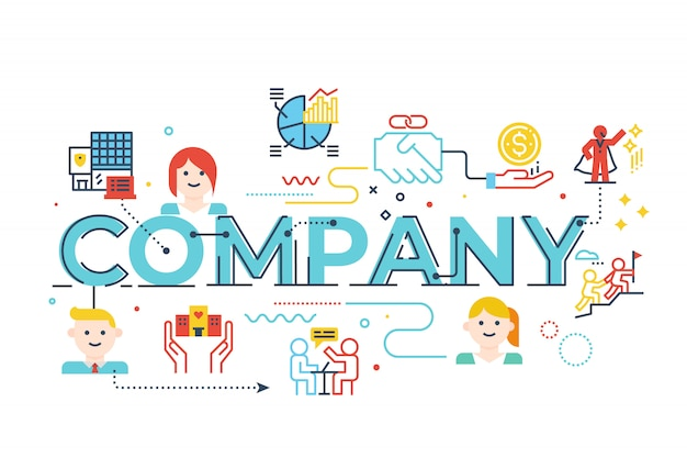 Company word lettering illustration