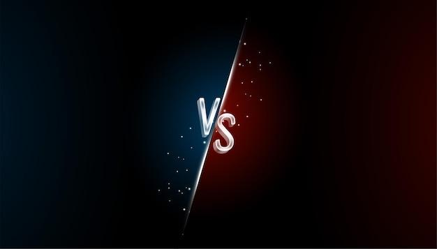 Comparison versus vs screen background
