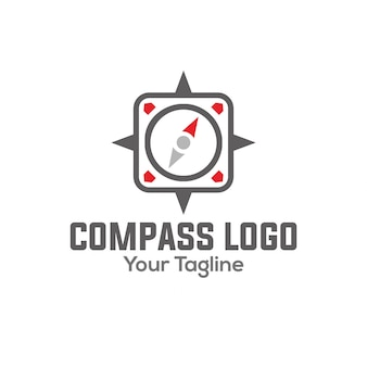 Compas logo Premium Vector