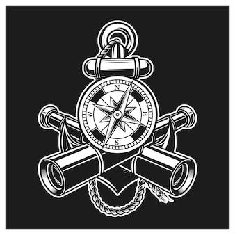 Compass anchor and binocular combination