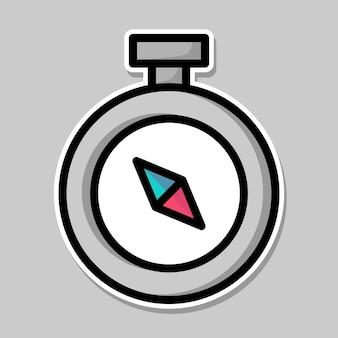 Compass cartoon design
