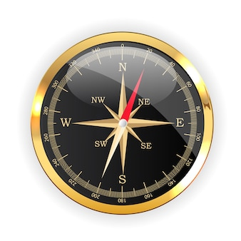 Compass direction icon for web design isolated