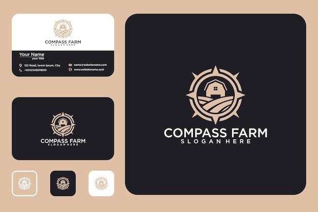 Compass farm logo design and business card