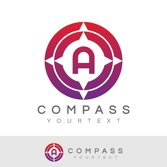 Compass initial letter a logo design