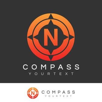 Compass initial letter n logo design