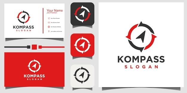 Compass logo design template Premium Vector