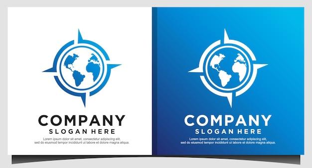 Compass logo design vector