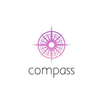 コンパスのロゴのグラフィックデザインのコンセプト。編集可能なコンパス要素、ロゴタイプ、アイコン、webおよび印刷のテンプレートとして使用できます