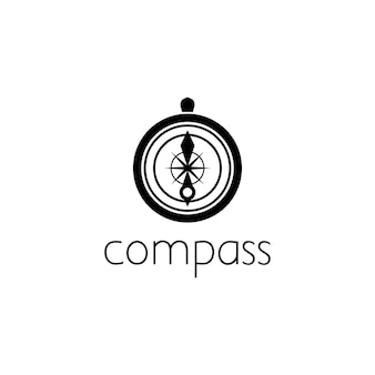 Compass logo graphic design concept. editable compass element, can be used as logotype, icon, template in web and print