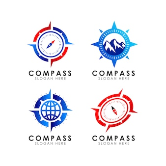 Compass logo icon design template