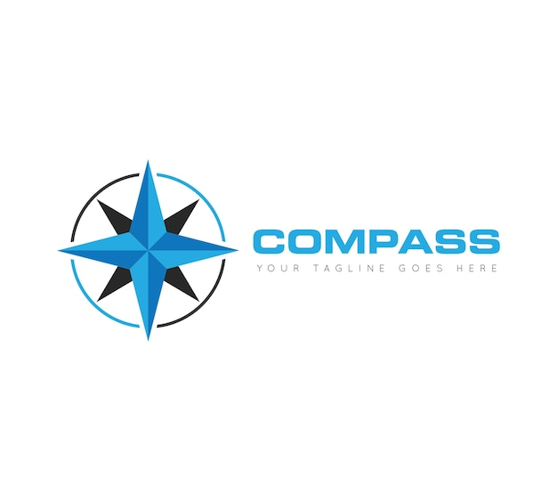 Compass logo, icon, symbol, ilustration template