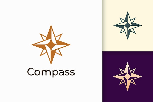 Compass logo in modern and abstract shape for tech company