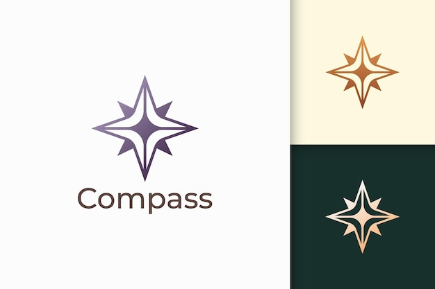 Compass logo in simple shape for outdoor business or community