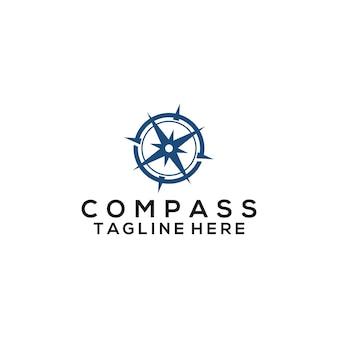 コンパスのロゴのベクトル。コンパスのロゴのテンプレート