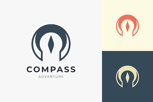 Compass logo with simple shape for business brand